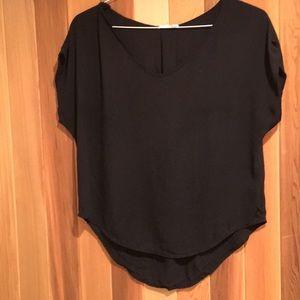 Lush dressy black top/blouse